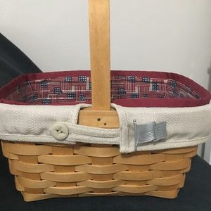 Longaberger Basket with accessories